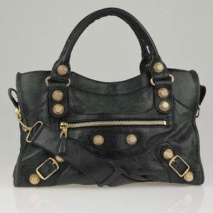 Authentic Balenciaga City Gold Studded Handbag